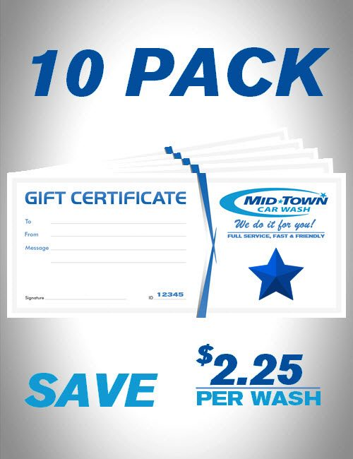 MidTown Car Wash | Gift Certificates