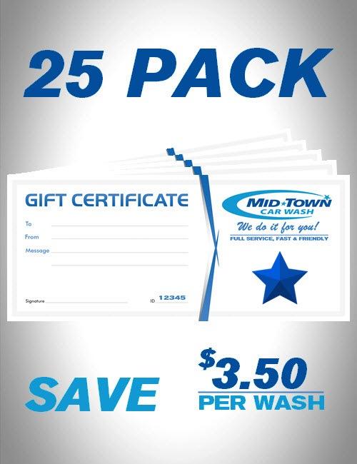 MidTown Car Wash | Gift Certificates